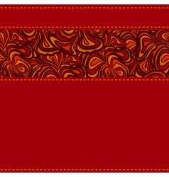 Dark red stripe seams vector