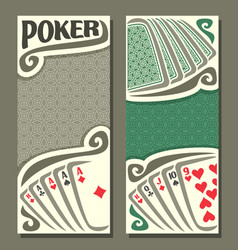 Banner for text pokers game vector