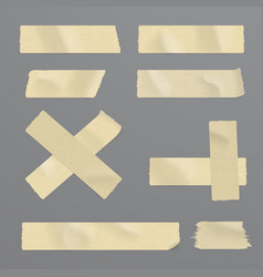 Realistic adhesive tape set vector