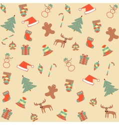Seamless merry christmas background vector