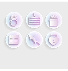 Light icons for wedding vector