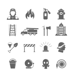 Firefighting icons set vector