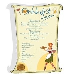 Oktoberfest poster with sample text vector image