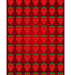 Seamless strawberry pattern design for vector