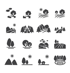 Landscape icon vector
