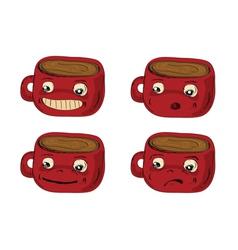 mugs hand drawn vector image