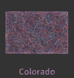 Colorado line art map vector