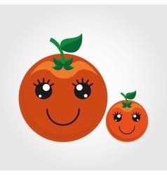 Fruit character design vector