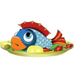 Fish Platter vector image