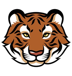 Tiger calm color vector