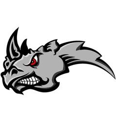 Angry rhino head tattoo vector