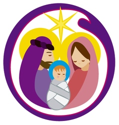 Baby Jesus in a manger 12 vector image vector image