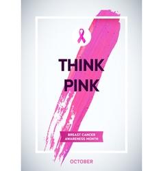 Breast cancer awareness month design pink brush vector