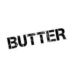 Butter rubber stamp vector