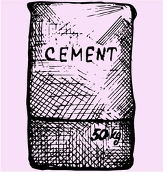 Cement bag paper sacks vector