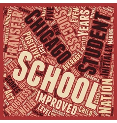 Chicago schools see positive nclb outcomes text vector