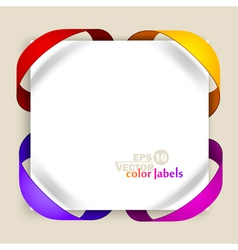 Color labels vector image vector image