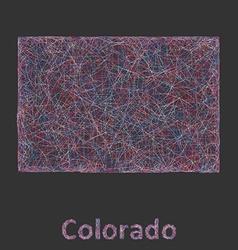 Colorado line art map vector