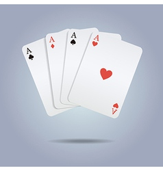 colorful of playing cards vector image