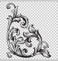 Corner baroque ornament decoration element vector