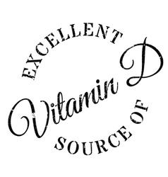 Excellent source of vitamin d stamp vector