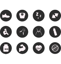 Fitness and Sport icons for web mobile All vector image vector image