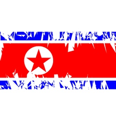 Flag of North Korea vector image vector image