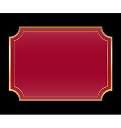 Gold frame beautiful simple golden black vinous vector