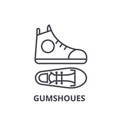 Gumshoes line icon outline sign linear symbol vector