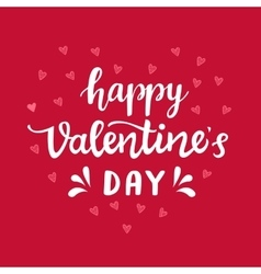 Happy Valentines Day typography poster vector image vector image