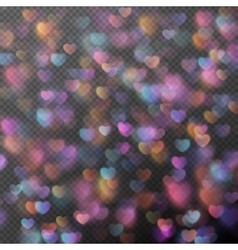 Hearts bokeh as effect eps 10 vector