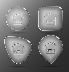 Home bedroom glass buttons vector