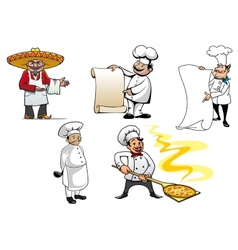 International chefs cartoon characters vector image vector image