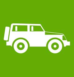 jeep icon green vector image