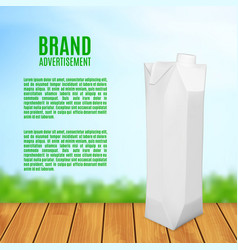 Juice box on a blurred background vector