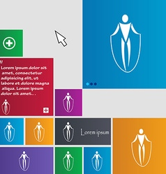 Jump rope icon sign buttons modern interface vector