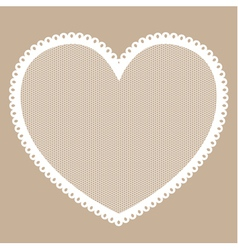 Lacy heart frame vector