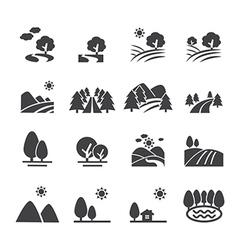 Landscape icon vector
