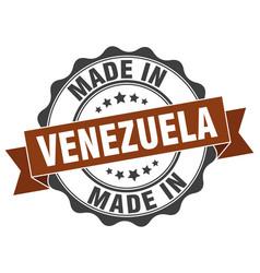 made in venezuela round seal vector image