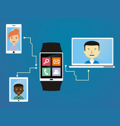 People communicate via wearable vector