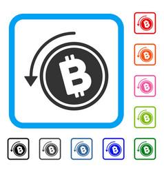 Refund bitcoin cash framed icon vector