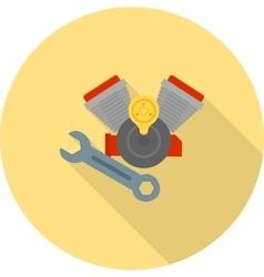 Repair engine motor vector