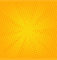 Retro rays comic yellow background vector
