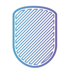 rounded shield with striped in color gradient vector image