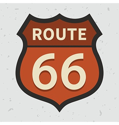 Route 66 vector image