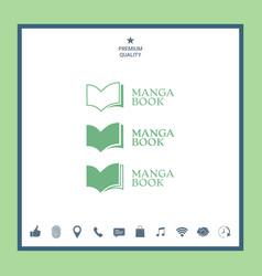 Set of elegant logo with book symbol vector