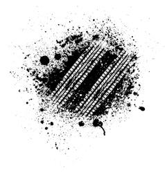 Tire track splash vector image