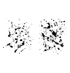 Two grungy ink blob textures for your designs vector image vector image