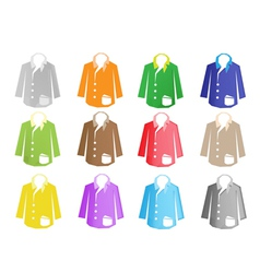 A colorful set of jacket suit vector