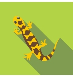 Lizard icon flat style vector